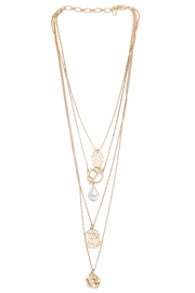 Saachi Doubloon Layered Necklace - Back cropped