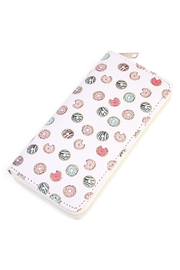 Riah Fashion Doughnut Print Wallet - Product Mini Image