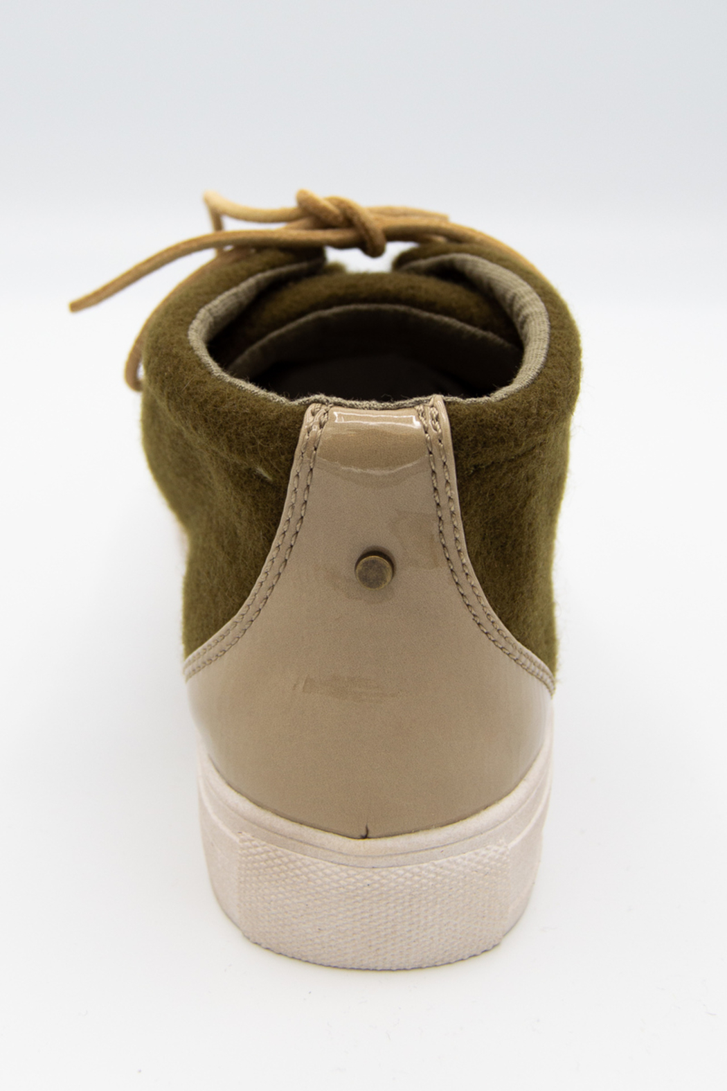 Band Of Gypsies Dove Felt Wool High Top Sneakers - Side Cropped Image