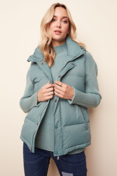 Shoptiques Product: Down Puffer Vest with Hood