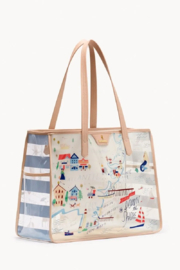 Spartina  Down The Shore Clear Beach Tote - Front cropped