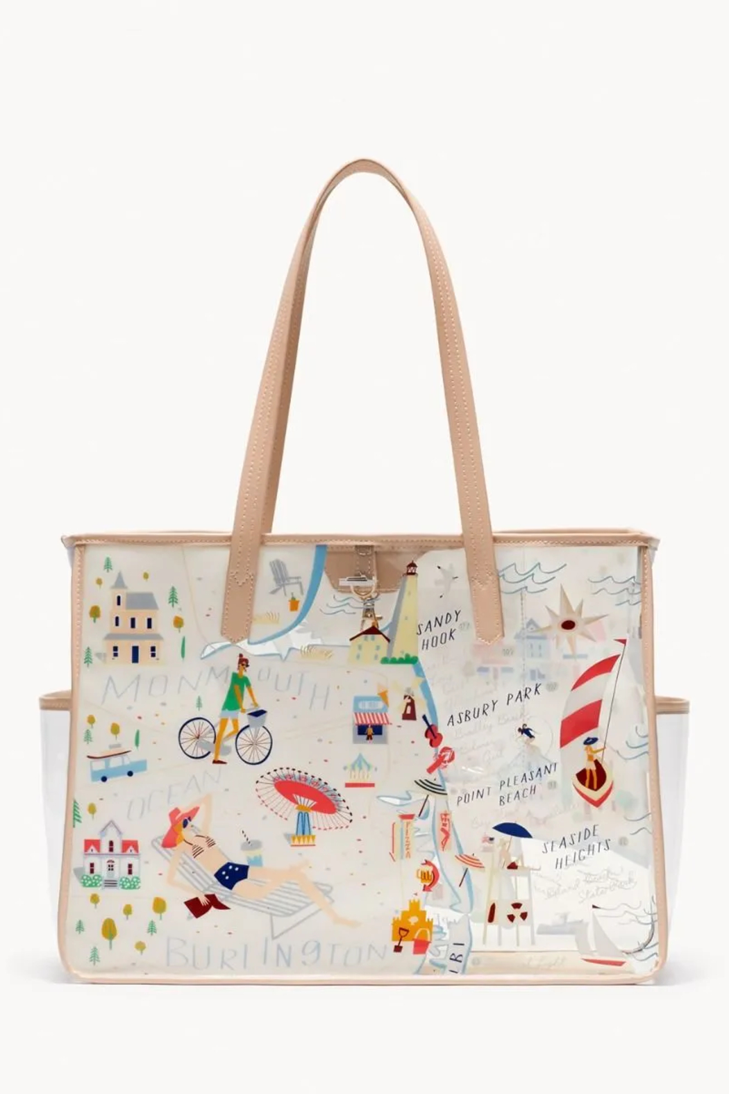 Spartina  Down The Shore Clear Beach Tote - Side Cropped Image