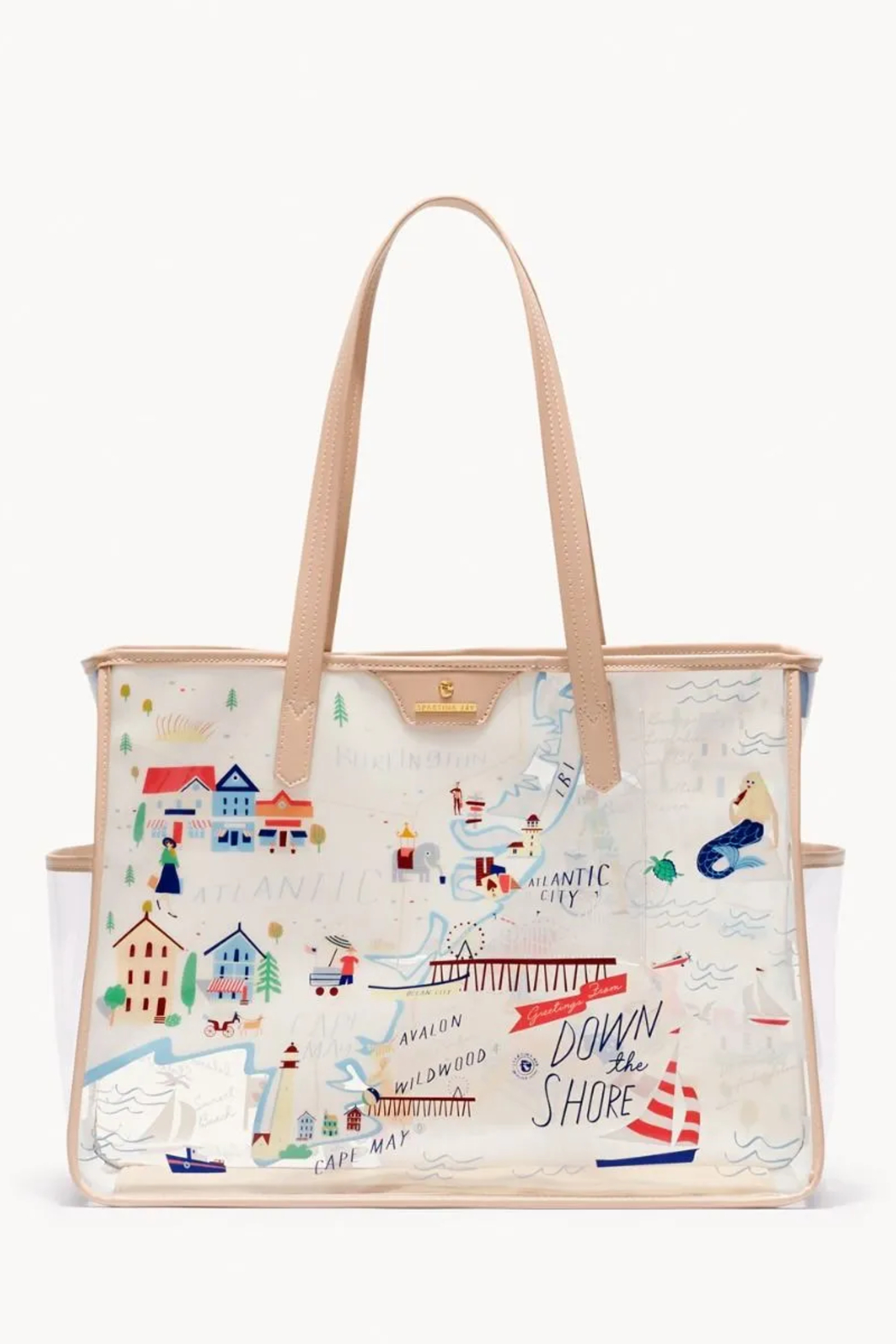 Spartina  Down The Shore Clear Beach Tote - Front Full Image