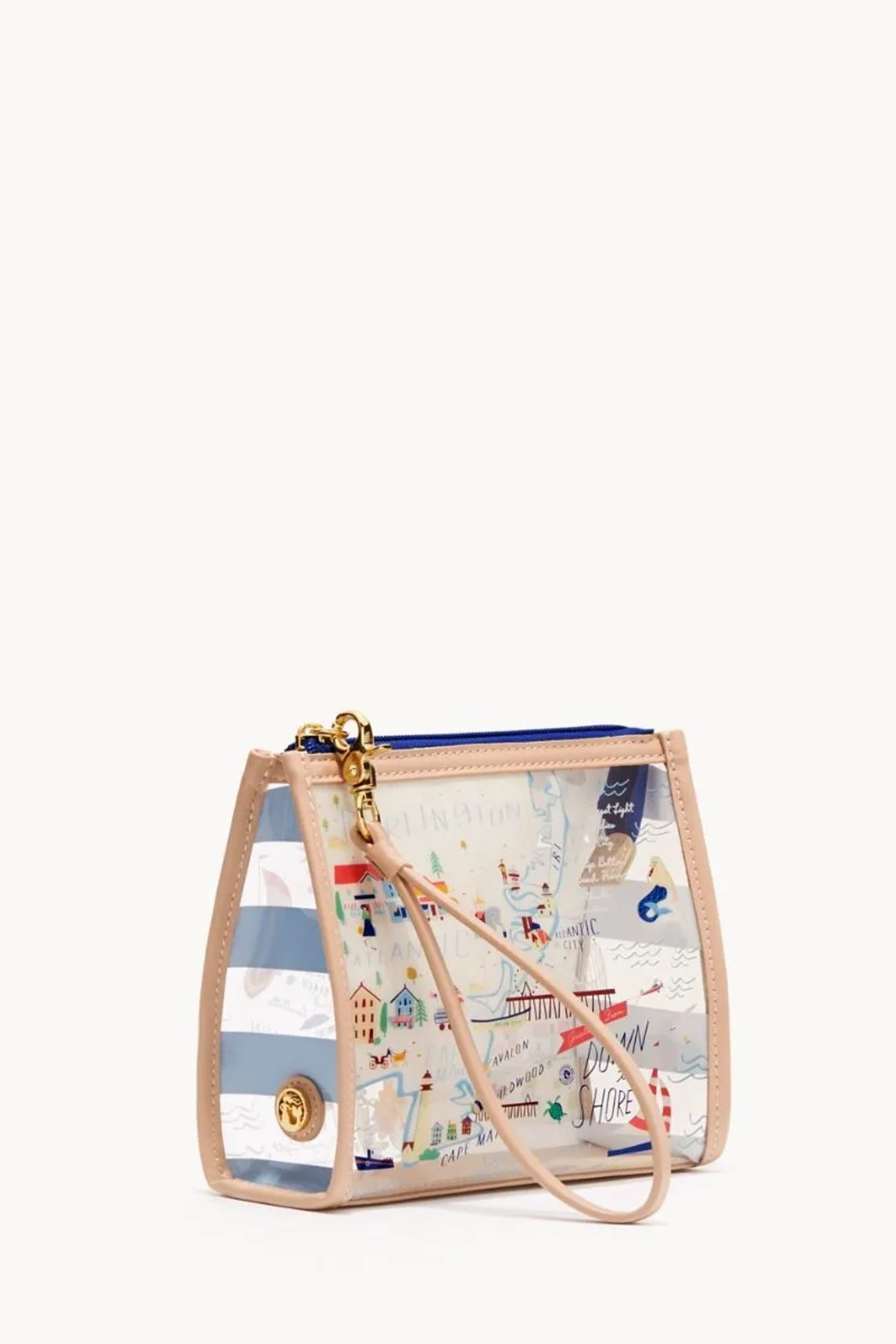 Spartina 449 Down the Shore Clear Beach Wristlet - Front Full Image
