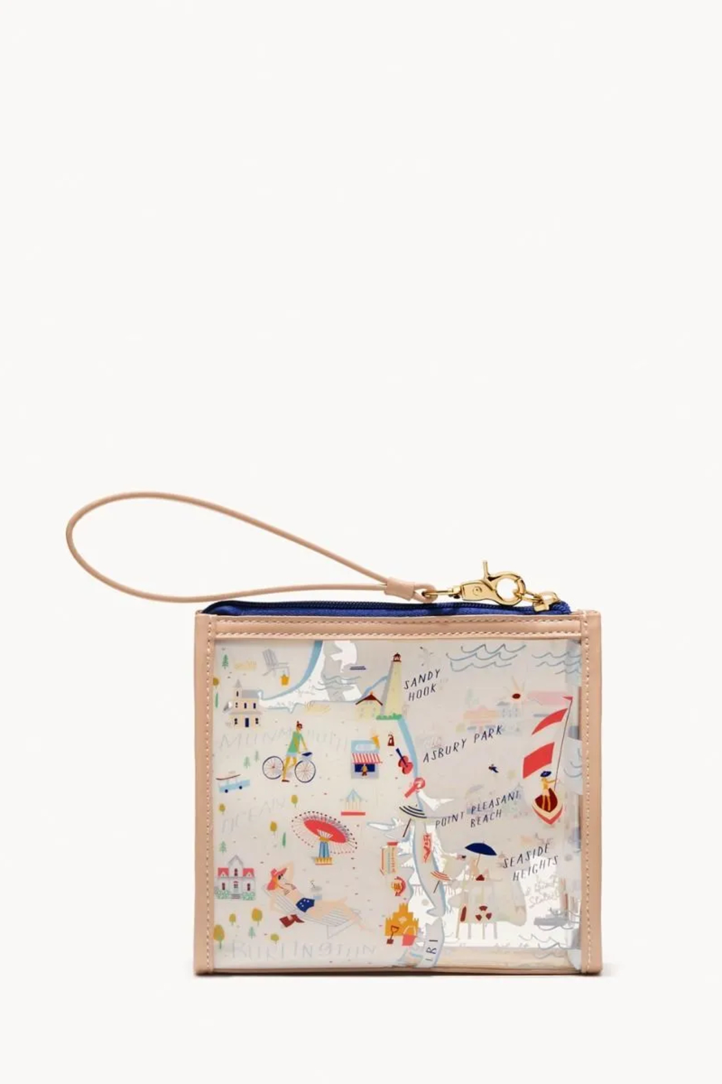 Spartina 449 Down the Shore Clear Beach Wristlet - Side Cropped Image