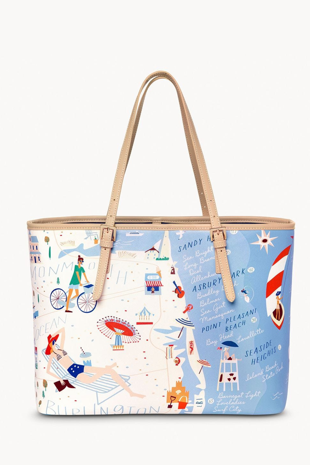 Spartina Down The Shore Large Tote - Front Full Image