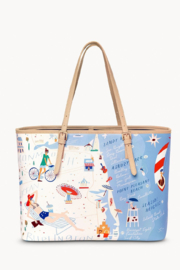 Spartina Down The Shore Large Tote - Front full body