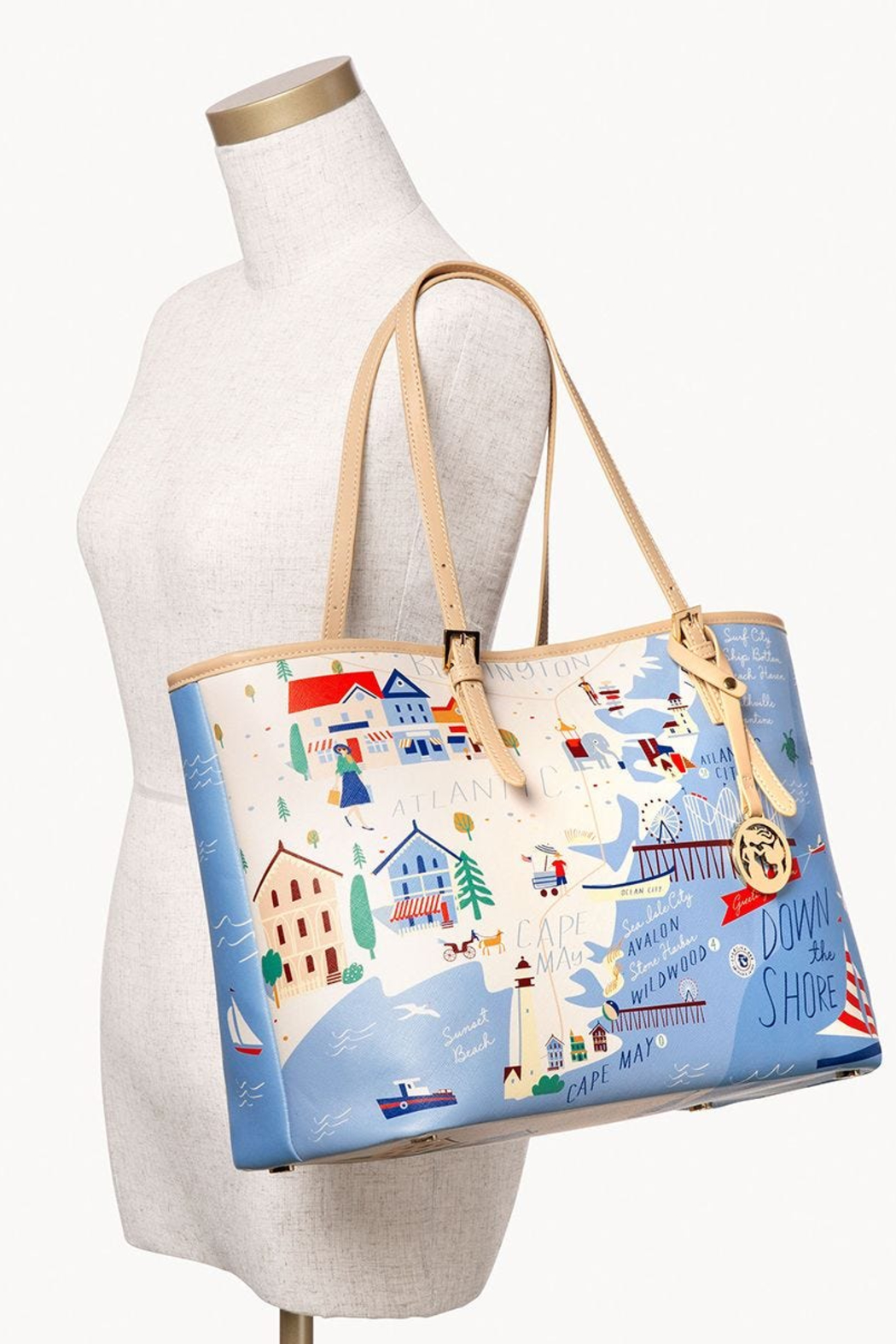 Spartina Down The Shore Large Tote - Back Cropped Image
