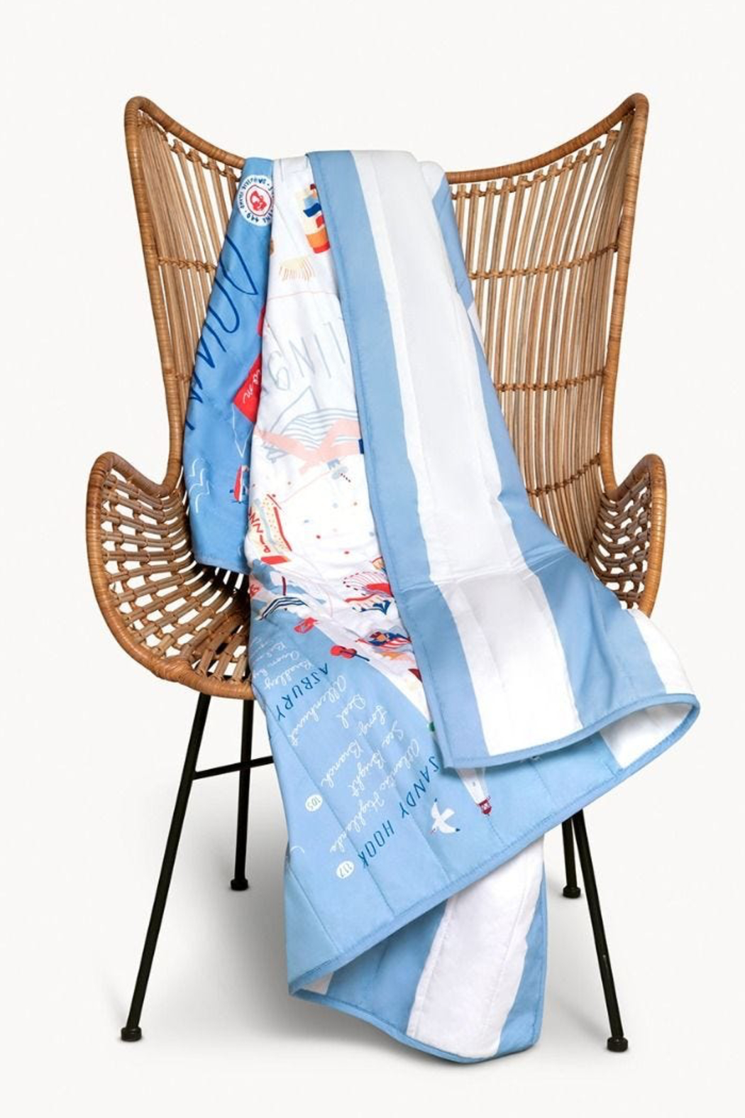 Spartina 449 Down the Shore Quilted Throw - Side Cropped Image