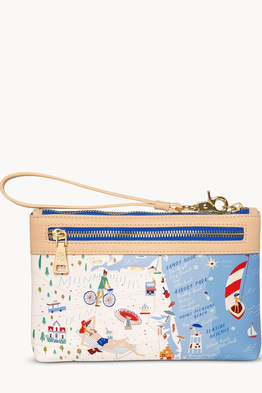 Spartina Down The Shore Scout Wristlet - Front Full Image