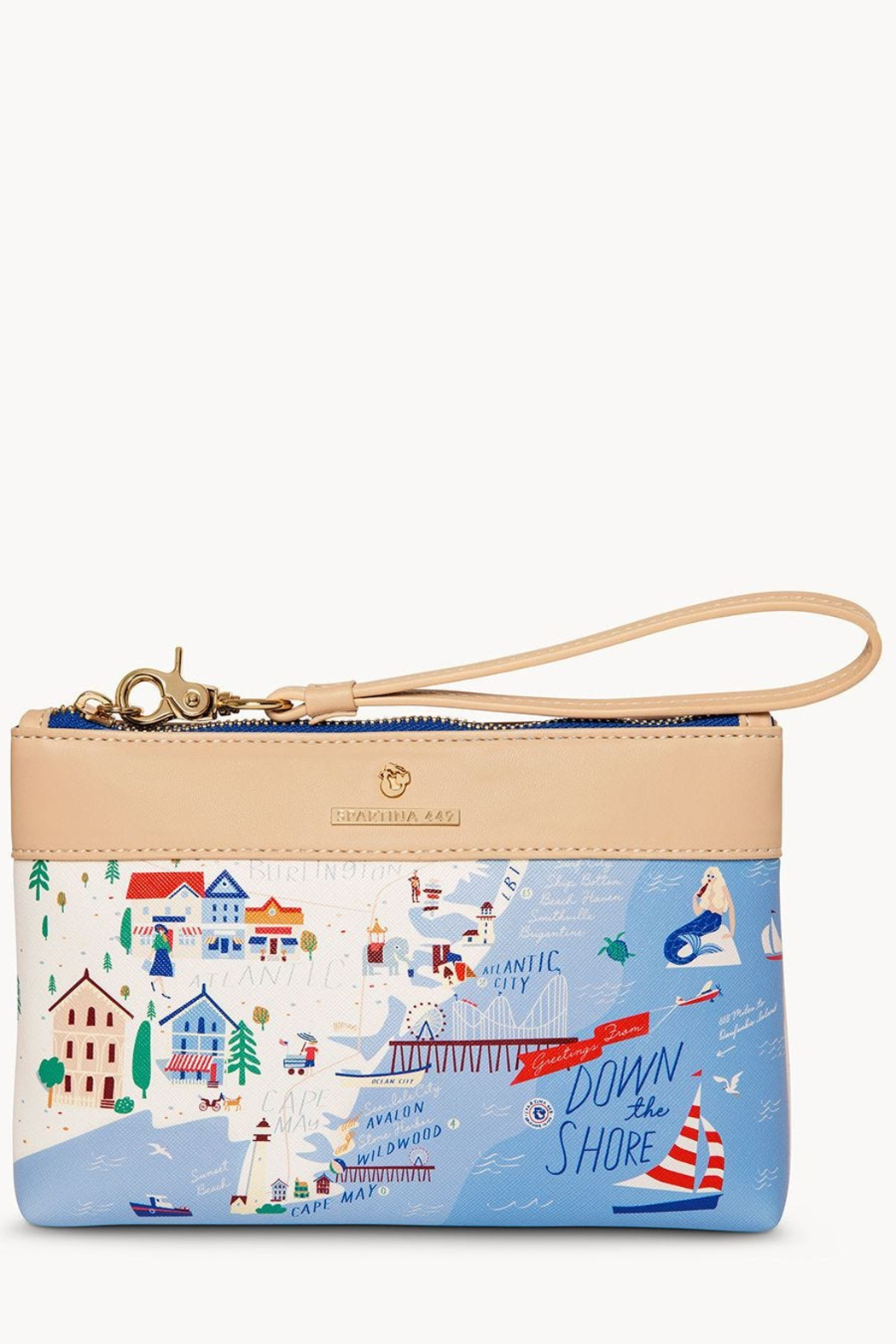 Spartina Down The Shore Scout Wristlet - Front Cropped Image