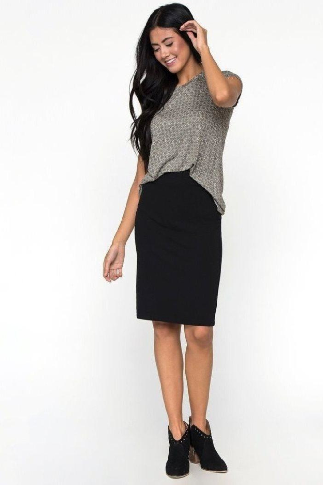Downeast Stretch Pencil Skirt - Front Cropped Image