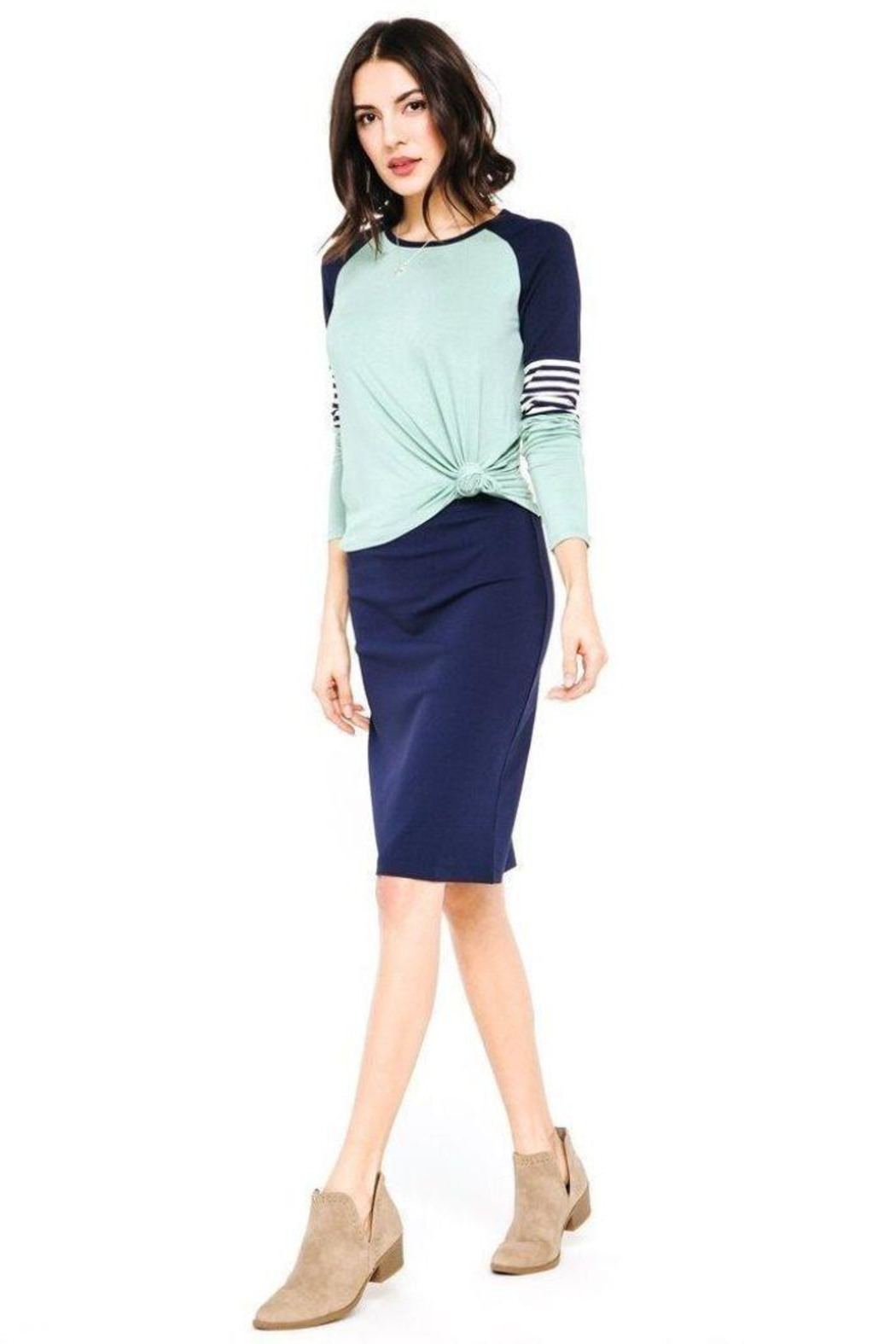 Downeast Stretch Pencil Skirt - Main Image