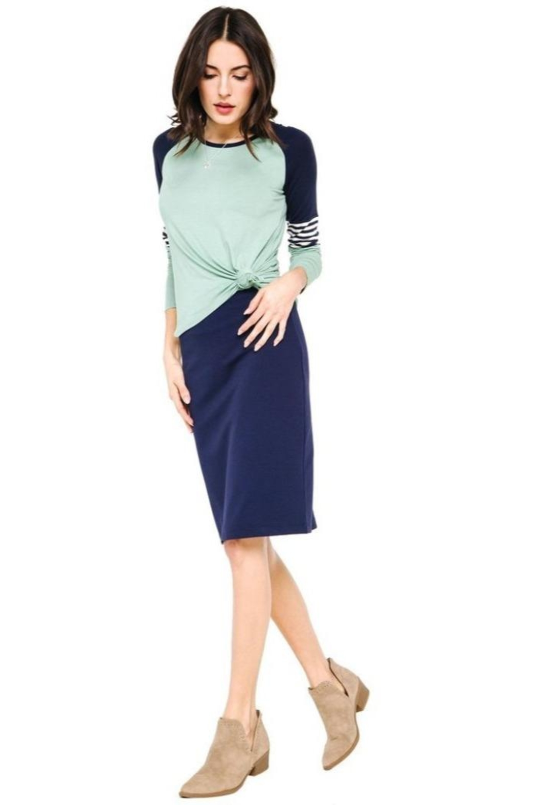 Downeast Stretch Pencil Skirt - Front Full Image
