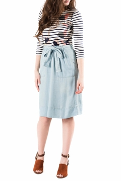 Shoptiques Product: Chambray Cinch Skirt