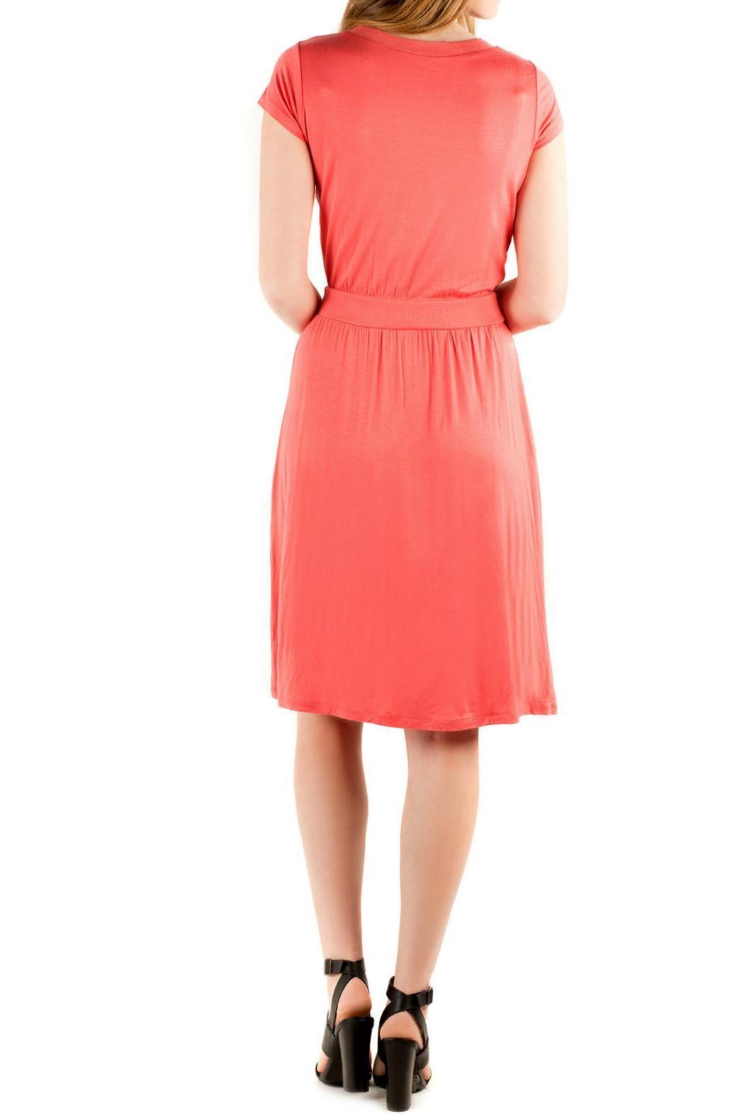 Downeast Basics Copacetic Dress Coral - Front Full Image