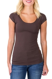 Downeast Basics Wonder Tee Dark Brown - Product Mini Image