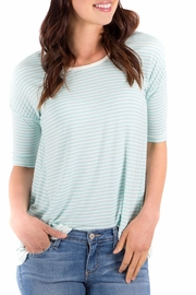 Downeast Basics Blue Stripe Top - Product Mini Image