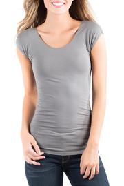 Downeast Basics Essential Charcoal Tee - Front cropped