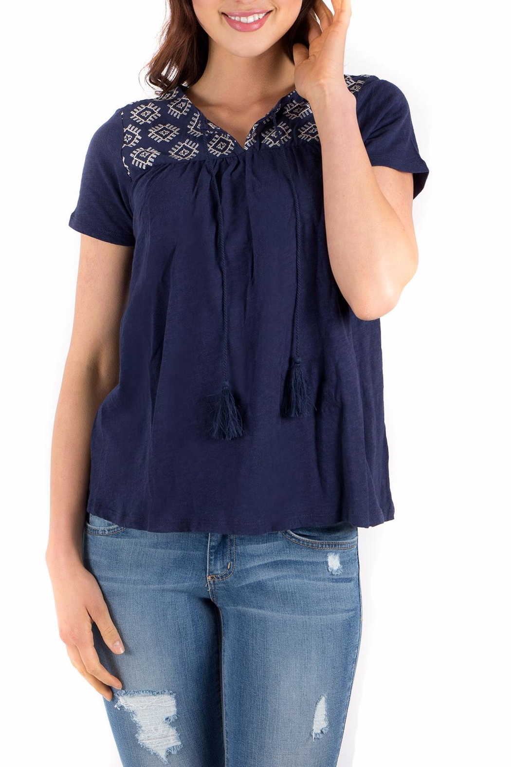 Downeast Basics Farsyth Top - Front Cropped Image