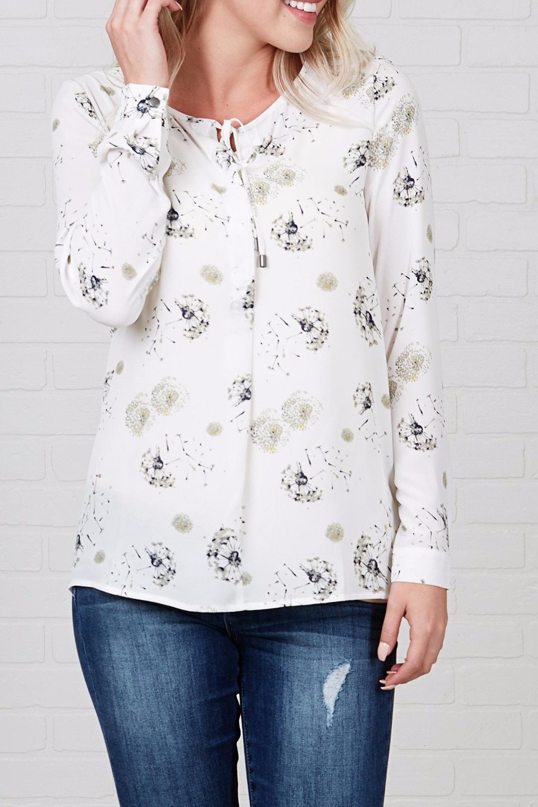 Downeast Basics Garden Love Blouse - Front Cropped Image