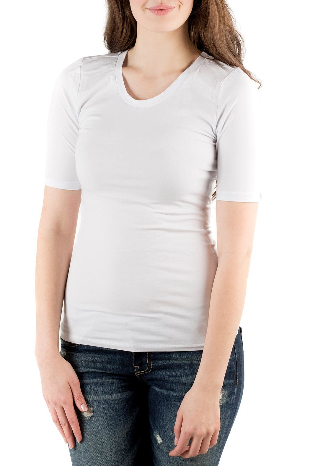 Downeast Basics Half Sleeve Top - Front Cropped Image