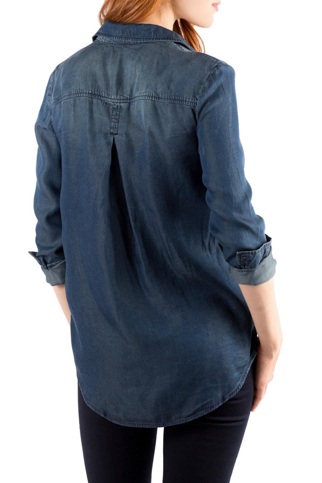 Downeast Basics Mountain Blue Top - Front Full Image