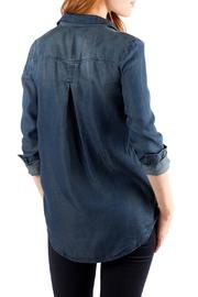 Downeast Basics Mountain Blue Top - Front full body