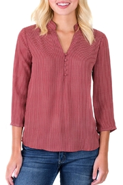 Downeast Basics Mandarin Blouse - Product Mini Image