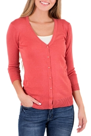 Downeast Basics V Neck Cardigan - Product Mini Image