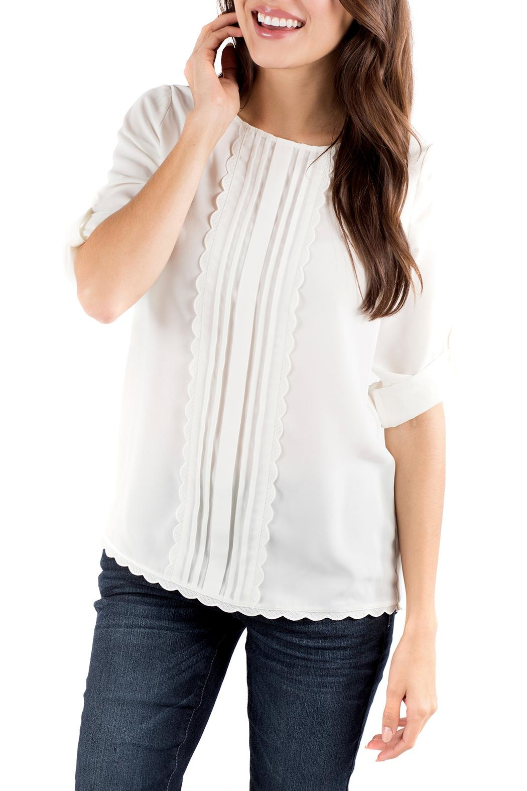 Downeast Basics Wish Blouse - Front Cropped Image