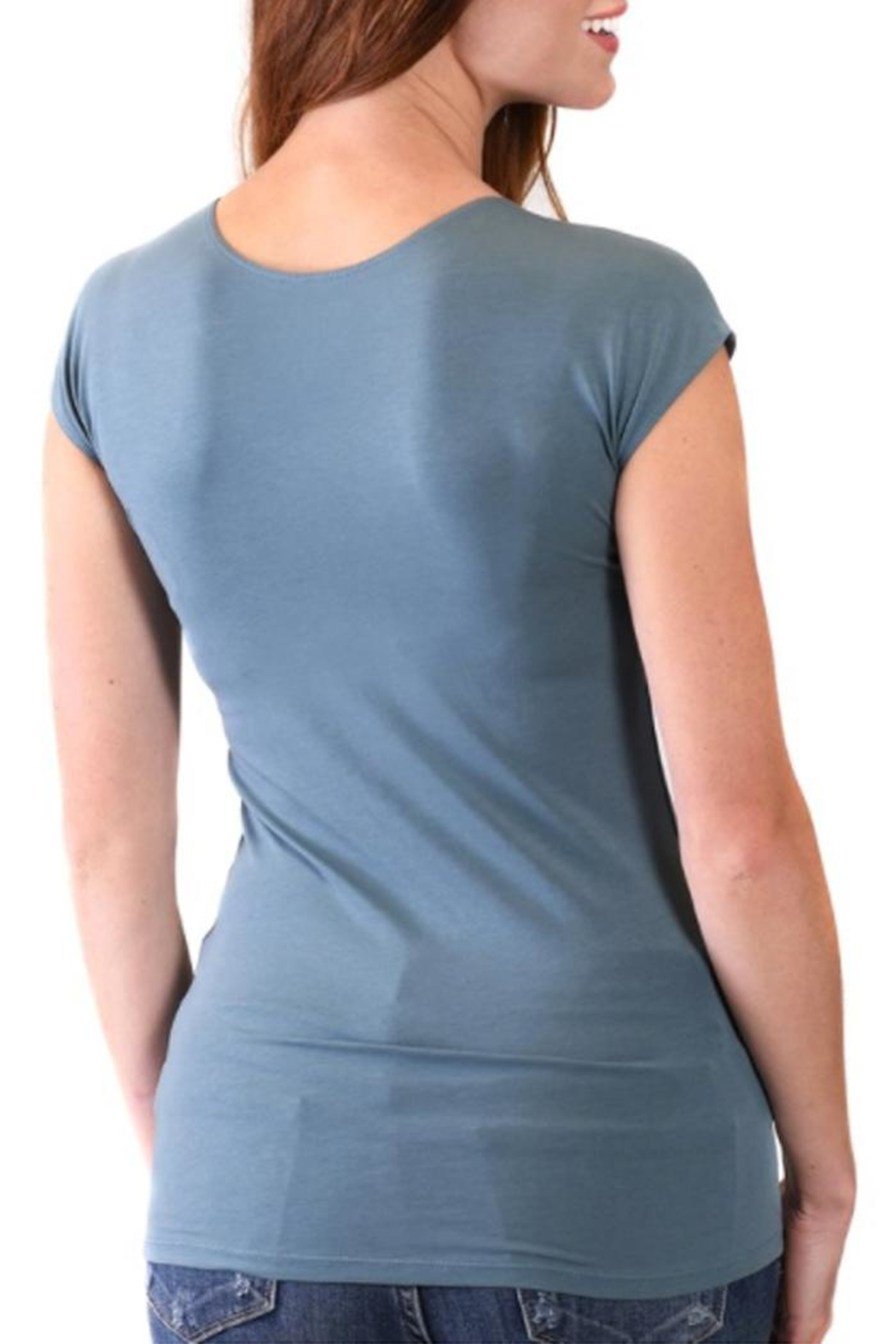 Downeast Basics Wonder Tee North Blue - Front Full Image