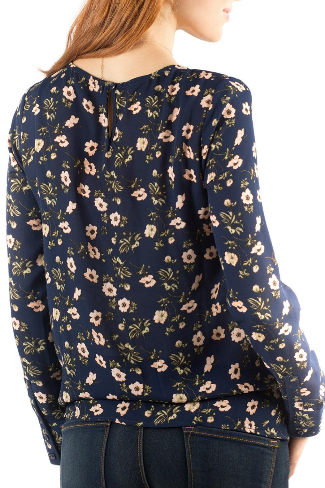 Downeast Basics Zurich Floral Top - Front Full Image