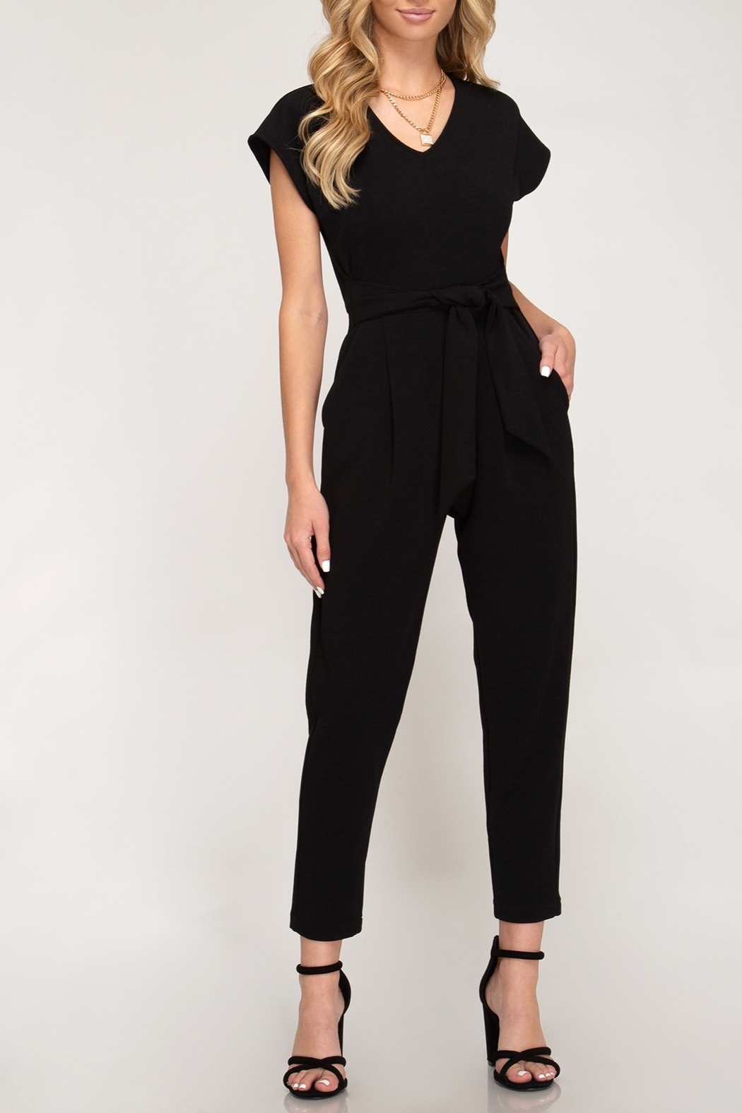 She + Sky Downtown Fun Jumpsuit - Front Cropped Image