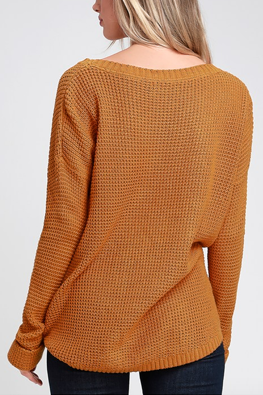 MinkPink Downtown Waffle Sweater - Front Full Image