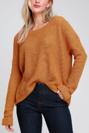 MinkPink Downtown Waffle Sweater - Front cropped