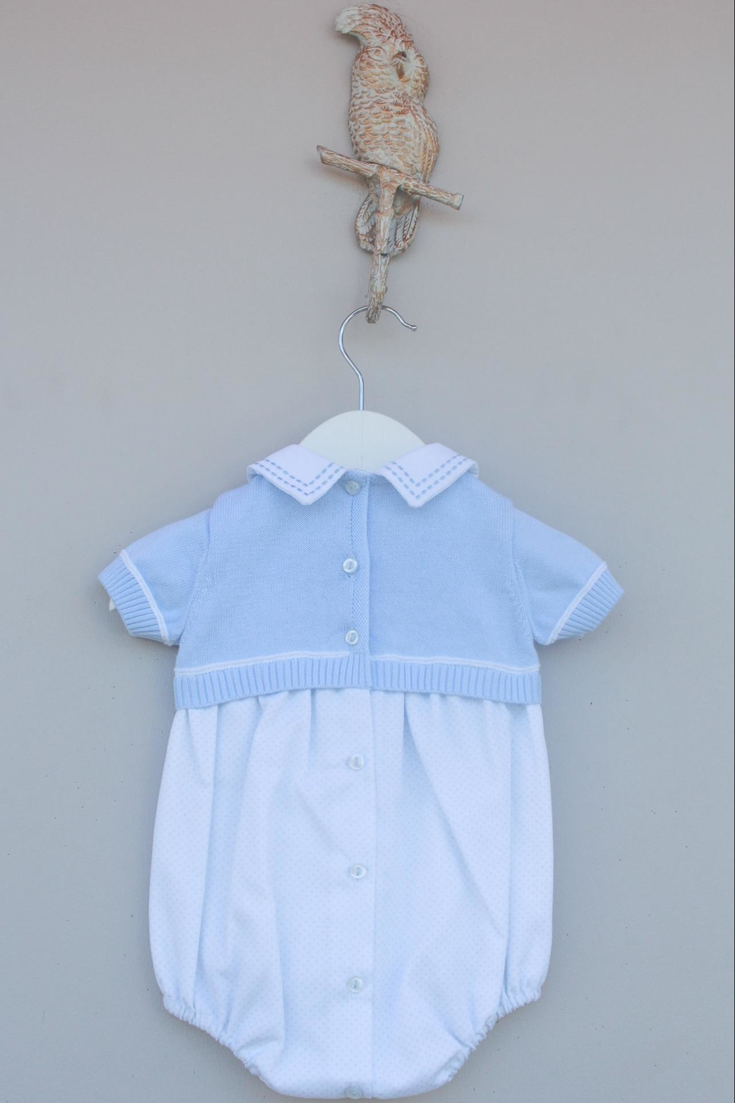 Dr. Kid Light Blue One-Piece - Side Cropped Image