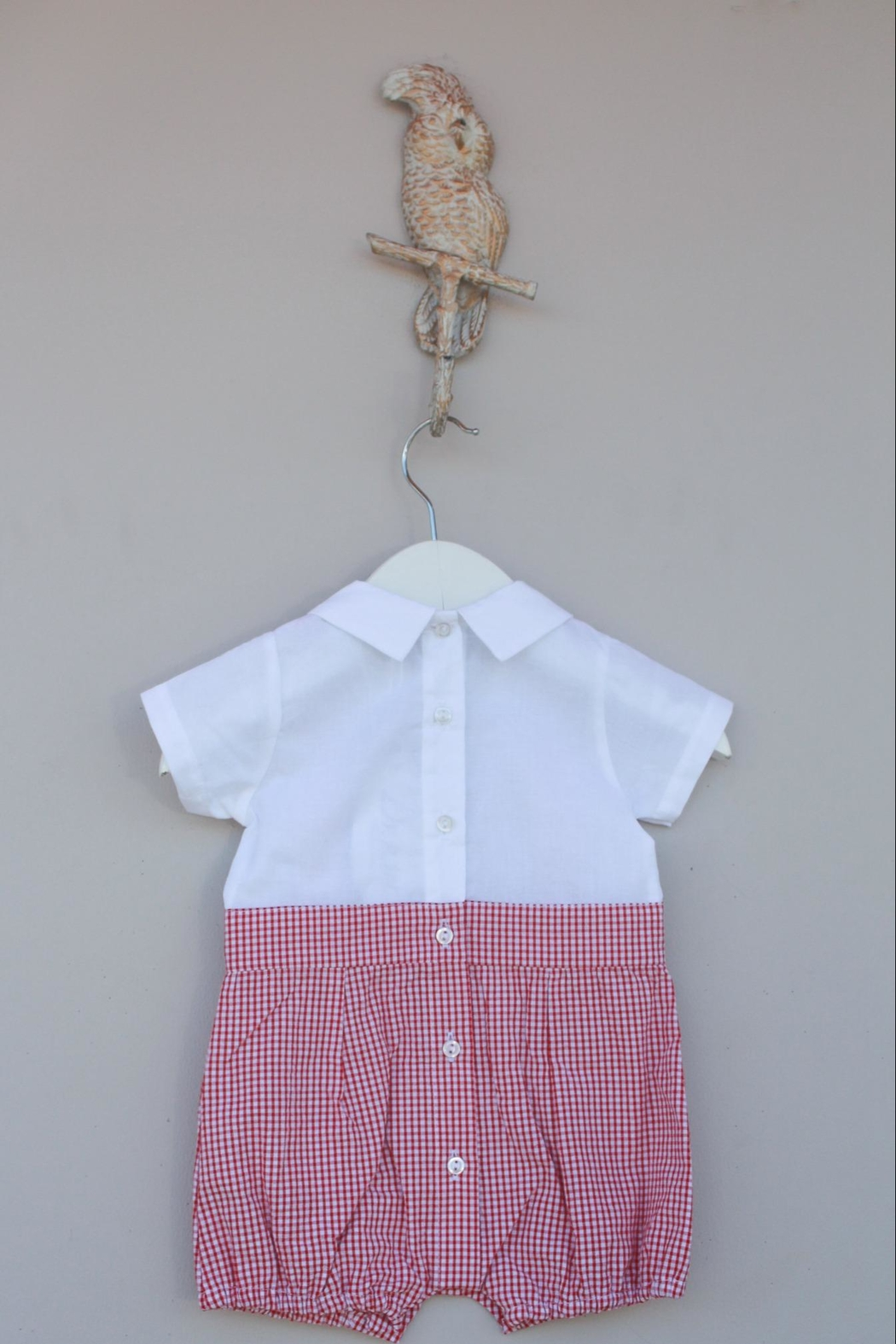 Dr. Kid Red/white Gingham One-Piece - Side Cropped Image