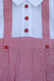Dr. Kid Red/white Gingham One-Piece - Front full body