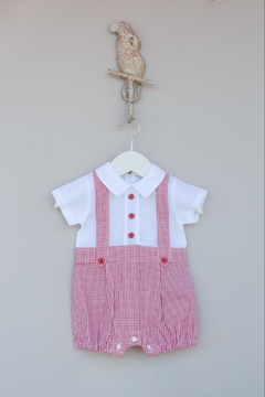 Shoptiques Product: Red/white Gingham One-Piece