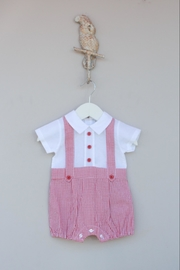 Dr. Kid Red/white Gingham One-Piece - Front cropped