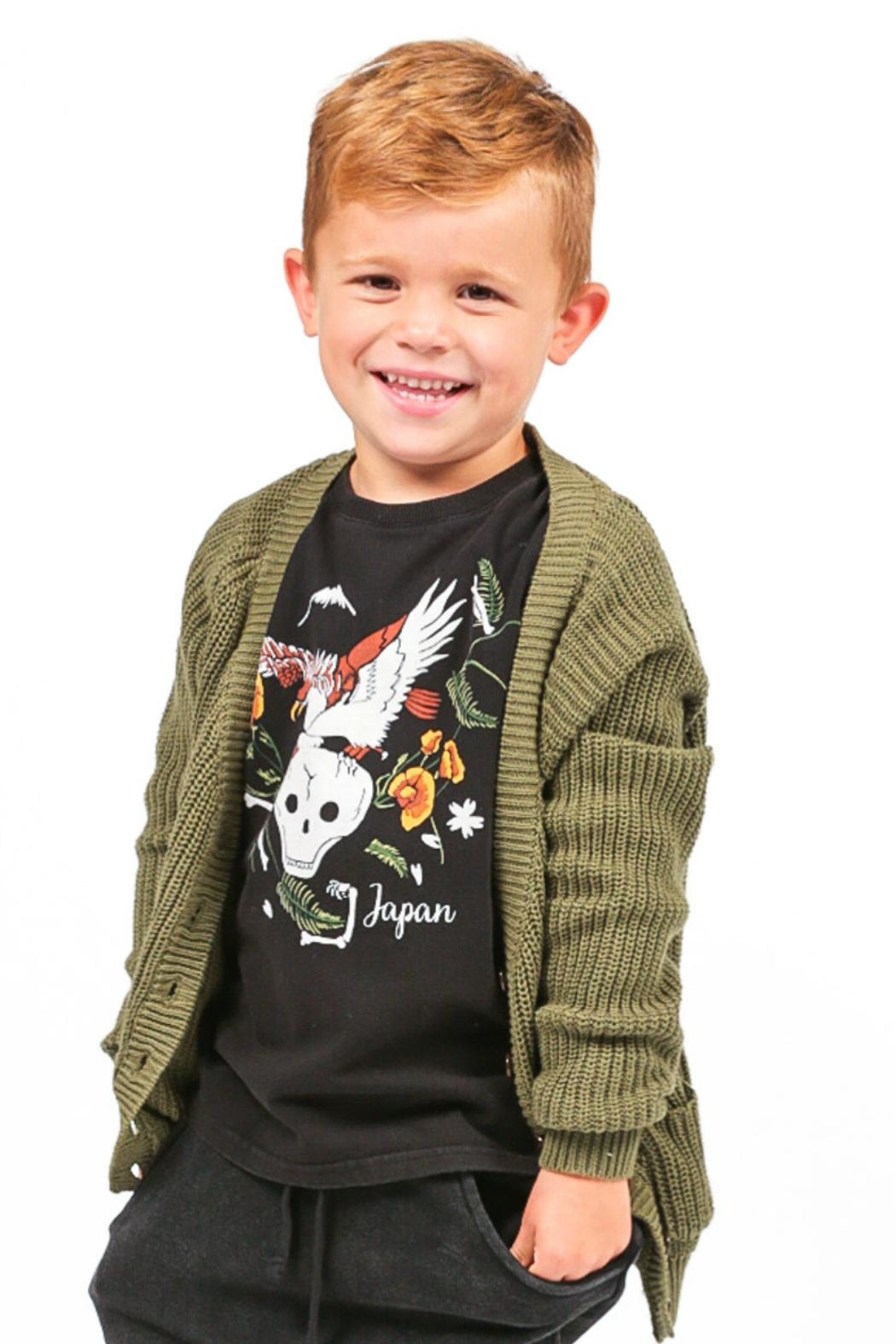 Rock Your Baby Dragon Sweater - Back Cropped Image