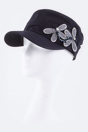Nadya's Closet Dragonflies Fashion Military-Hat - Front cropped