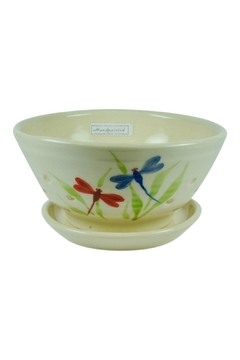 Emerson Creek Pottery Dragonfly Berry Bowl - Alternate List Image