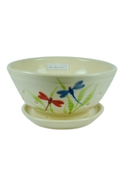 Emerson Creek Pottery Dragonfly Berry Bowl - Product Mini Image