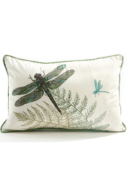 Giftcraft Inc.  Dragonfly Moss Pillow - Product Mini Image