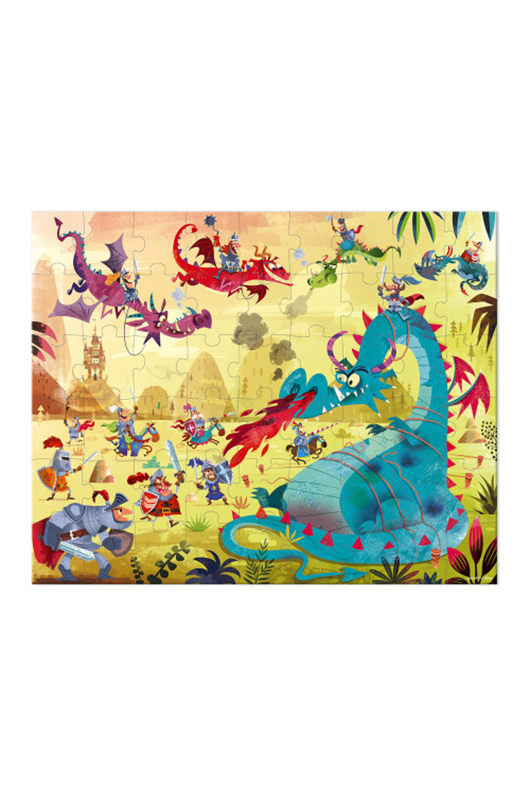 Janod Dragons 54 Piece Puzzle - Side Cropped Image