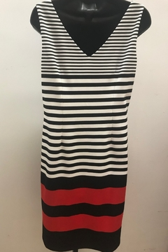 Michael Tyler Collections Dramatic Striped Dress - Alternate List Image