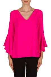 Joseph Ribkoff Drape Back Drama Slv Top - Product Mini Image