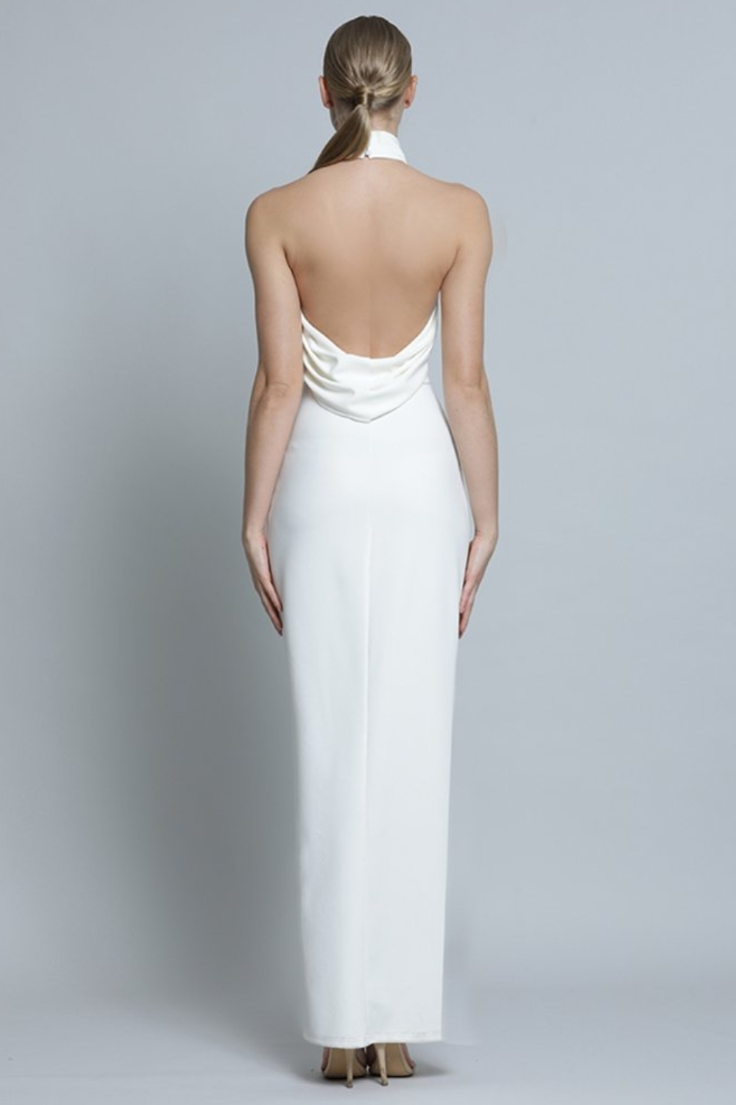 Lumier  Drape Back Gown - Side Cropped Image